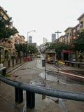 在旧金山经营的电车 免版税库存图片
