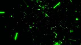 在绿色小点& 3D空间里面电话用户线行动背景 皇族释放例证