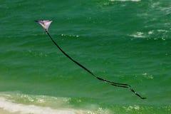 在美丽如画的日落附近的巴拿马市海滩墨西哥湾 免版税图库摄影