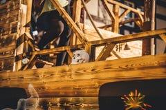 在狂欢节队伍期间的德国仿制船 库存照片