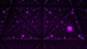 在紫色发光的小点VJ圈行动背景3D立方体里面  向量例证