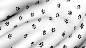 在生气蓬勃的织品的动物爪子印刷品 皇族释放例证