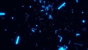 在蓝色小点& 3D空间里面电话用户线行动背景 皇族释放例证