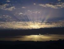 在耶路撒冷的日出 库存图片
