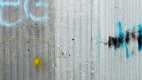 在铁板材的喷漆 铁锌板材纹理 免版税库存照片