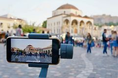 在雅典记录的录影的图片 图库摄影