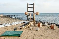 在Cabo佛得岛的海滩健身房 免版税库存照片