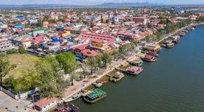 在Kampot -柬埔寨的风景 图库摄影