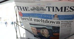 在MP表决以后的Brexit熔毁延迟的 股票视频