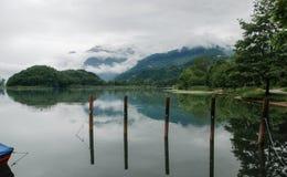 在Piano湖的不可思议的沈默 como 意大利 库存图片