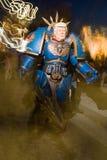 在viareggio狂欢节的唐纳德・川普面具  库存照片