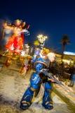 在viareggio狂欢节的唐纳德・川普面具  免版税库存图片
