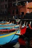 地中海港口在意大利:cinque terre 免版税库存照片