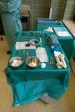 医生进行一次外科手术 免版税图库摄影