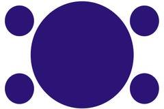 圆色的横幅-深蓝圈子 能为例证目的,背景,网站,企业,介绍使用 库存图片