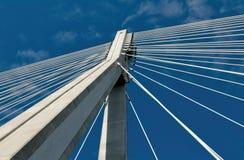 ÅšwiÄ™tokrzyskibrug in Warshau - hangende kabels Royalty-vrije Stock Afbeelding