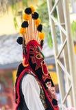 厄瓜多尔的土产舞蹈家 免版税库存照片