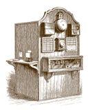 历史的铁路信号房 向量例证