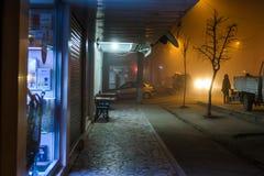 刻痕薄雾在土耳其夏天和假日假期镇 库存照片