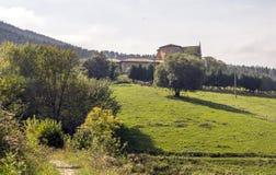 Łąki w wiosce fotografia stock