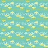 Ładny kwiatu adamaszka wzór Bezszwowa wielostrzałowa zawijas ślimacznica Ręka rysująca modna kwiecista wektorowa ilustracja ilustracji