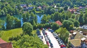 View on Łagowskie Lake. Łagów village and view on Łagowskie lake in Pojezierze Lubuskie, Poland Royalty Free Stock Photo