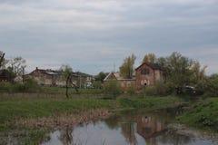 Łošycki park. Landscape of the Łošycki park. Belarusian heritage Stock Images