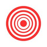 Łucznicza czerwona wektorowa ilustracja cel na białym tle ilustracji