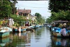 哈密尔顿运河negombo,斯里兰卡 免版税图库摄影