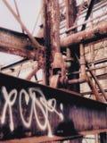 农贸市场新奥尔良放弃了能源厂 免版税库存图片