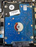 内部笔记本硬盘 库存照片