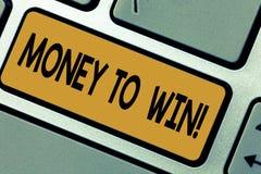写显示金钱的笔记赢得 陈列企业的照片计算收支得到做某事 图库摄影