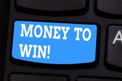 写金钱的手写文本赢得 计算收支的概念意思得到做某事 库存图片