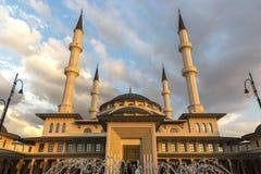 全国清真寺在安卡拉土耳其 免版税图库摄影