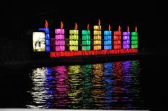 光明节庆祝在特拉维夫 免版税库存照片