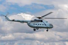 克罗地亚人空军队和防空米尔Mi8军用直升机 免版税库存图片