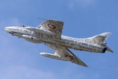 前瑞士空军队叫卖小贩猎人F 58个HB-RVS 免版税库存照片