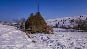 国家边照片在冬天 免版税图库摄影