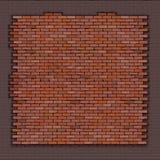 Ściana z cegieł czerwona cegła royalty ilustracja