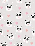 Śliczny panda niedźwiedzia wektoru wzór Śmieszni Biali niedźwiedzie Ilustracyjni dla dziewczyn ilustracja wektor