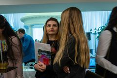 Ślubny kłopot wystawa w Kirov Rosja obraz stock