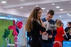 Ślubny kłopot wystawa w Kirov Rosja obrazy stock