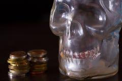 Śmierć i pieniądze pojęcie zdjęcie stock