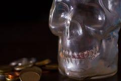 Śmierć i pieniądze pojęcie fotografia royalty free