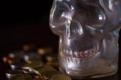 Śmierć i pieniądze pojęcie zdjęcia stock