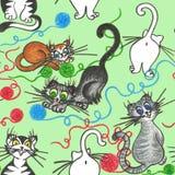 Śmieszni plaing koty ilustracja wektor
