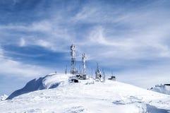 Śnieżne góry Krasnaya Polyana obrazy royalty free
