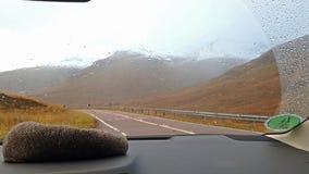 Śnieg spada w średniogórzach Scotland zdjęcie wideo