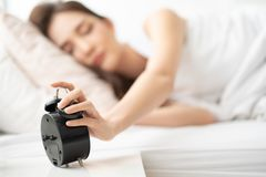 Śpiąca Azjatycka kobieta fotografia royalty free