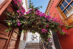 Śródmieście w Garachico wiosce, sławny turystyczny miejsce przeznaczenia w Tenerife, wyspy kanaryjskie, Hiszpania zdjęcie royalty free